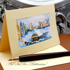 Karnet malowany ręcznie -Akwarela Nr 2-