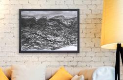 Morskie Fale- czarno biały rysunek