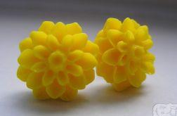 Kolczyki - żółte kwiatuszki