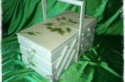 Ogromna Niciarka - pudełko na nici,magnolia