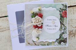 Kartka ślubna z personalizacją + pudełko b3
