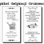ANIOŁ Maleńkiego Szczęścia - Dedykacje drukowane