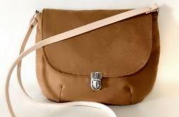 Brązowa torebka listonoszka styl vintage
