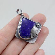 Lapis lazuli i srebro - wisior