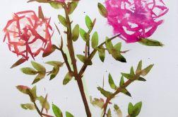 Malowana stylizowana róża, Inaczej