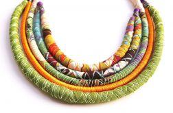Naszyjnik bawełniane liny Kasu