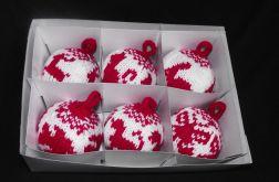 Bombki robione na drutach - wzór zwierzęcy, czerwony