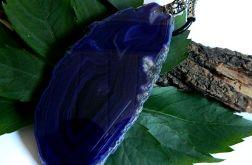 Wielki fioletowy agat,efektowny wisior, 14 cm