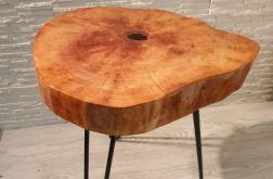 Stolik kawowy plaster drewna olcha żywica
