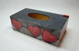 Pudełko prostokątne na chusteczki SERCA