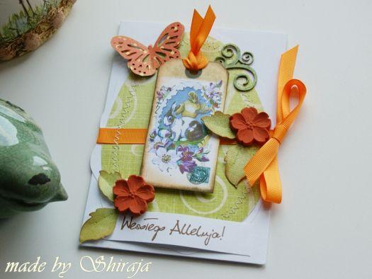 Kartka wielkanocna- radosna zieleń
