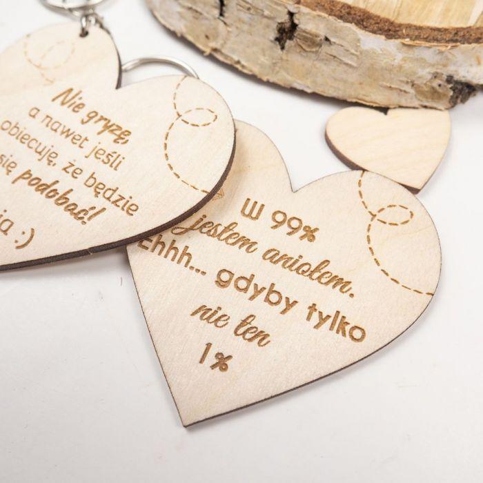 Brelok - serce, walentynki, dzień kobiet - prezent na walentynki, prezent walentynkowy, prezent dzień chłopaka, serce