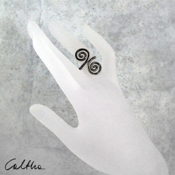 Zawijas - mosiężny pierścionek 210305-01 - Regulowany pierścionek
