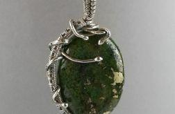 Srebrny wisiorek z jaspisem Srebro Jaspis