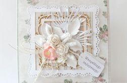 Kartka uniwersalna różowa z różami