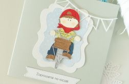 Zaproszenia na roczek - rowerzysta 4