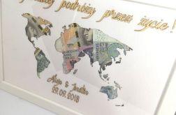 Mapa Świata w ramce A4