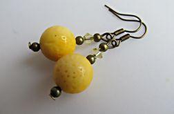 żółte korale - kolczyki