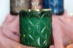Naturalna świeca sojowa GLAMOUR 700ml zielona