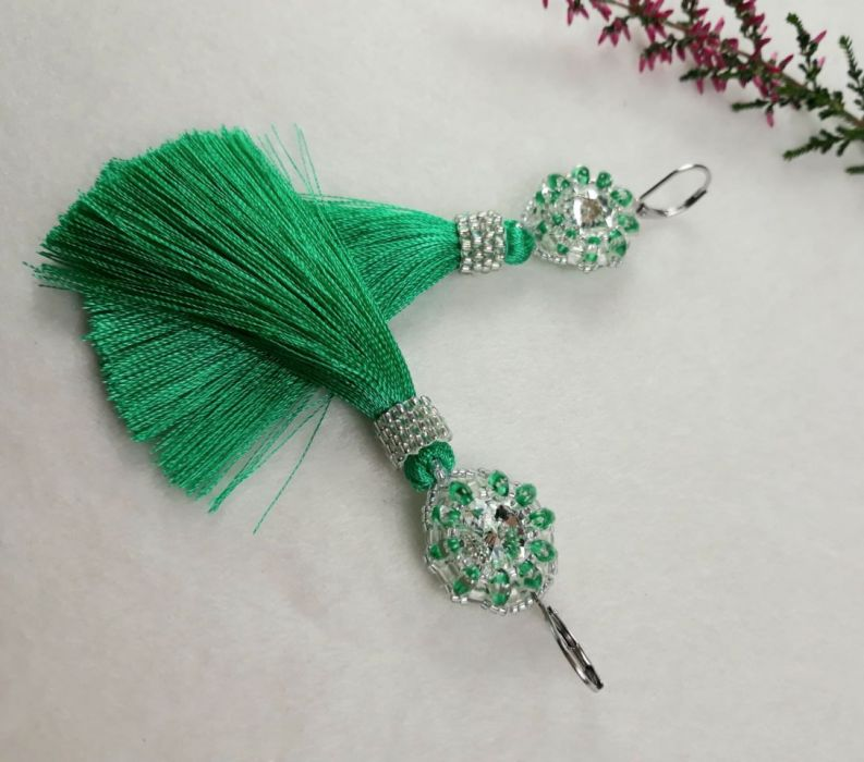 kolczyki zielone