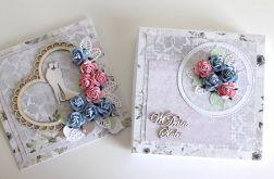 Kartka ślubna kwiecista z ozdobnym pudełkiem