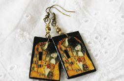 Kolczyki Decoupage Klimt