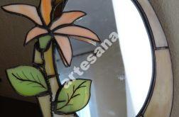 Lustro witrazowe Tiffany kwiat toaletka