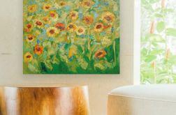 Słoneczniki obraz olejny na płótnie