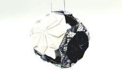 Bombka origami mini kusudama papier koronka