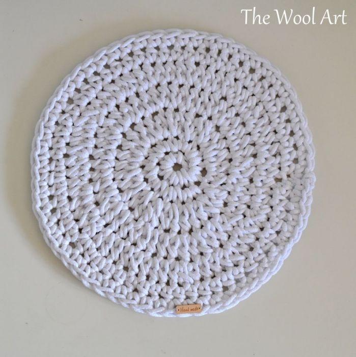 podkładka na stół biała