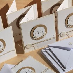 Zaproszenie lub kartka na Komunię Świętą IHS