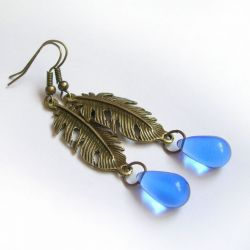 Blue drops - kolczyki