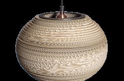 Lampa wisząca Tenla z tektury falistej