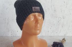 Ciemno-szara męska czapka