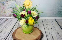 Dekoracja kwiatowa ze słoneczkiem