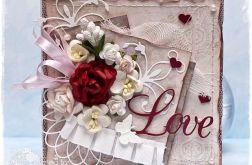 """Kartka  vintage """"Love"""""""