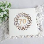 Kartka urodzinowa w pudełku 90 -