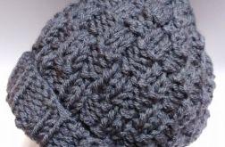 Męska ciepła zimowa czapka