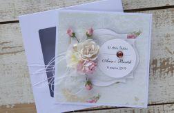 Kartka ślubna z personalizacją + pudełko a1