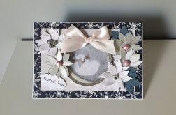 Kartka Boże Narodzenie handmade łabędź A5