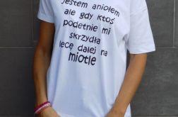 """t-shirt luźny """"JESTEM ANIOLEM ..."""""""