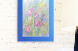 Rysunek z kwiatami na granatowym tle nr 2