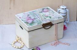 """Kufer wielki, pudełko z wiekiem """"stare róże"""""""