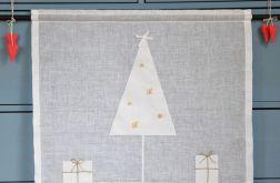 firanka świąteczna z choinką z cieniutkiego l