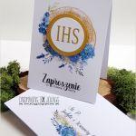 Zaproszenie na komunię-ihs-koperta -