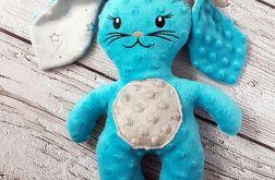 Uroczy króliczek niebieski - przytulanka