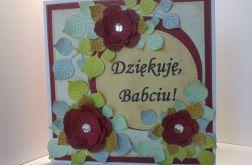 Kartka dla babci - bordowa (2)
