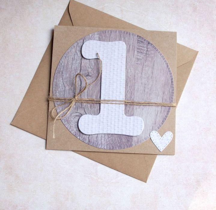 na roczek - kartka handmade - natural
