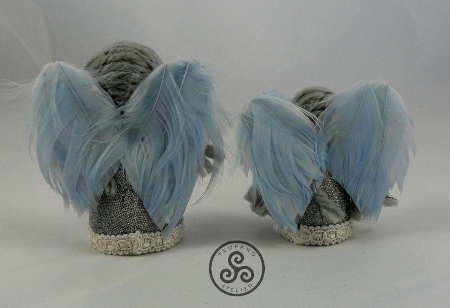 Dwa aniołki (srebrne) -