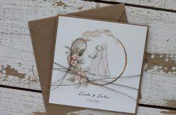 Kartka ślubna z kopertą - życzenia i personalizacja 1w